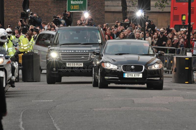 Kate Middleton chega no hotel de enesgamento fotos de stock