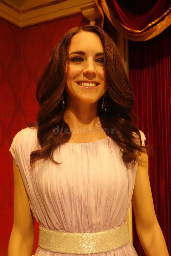 Kate Middleton Wax Figure arkivfoton