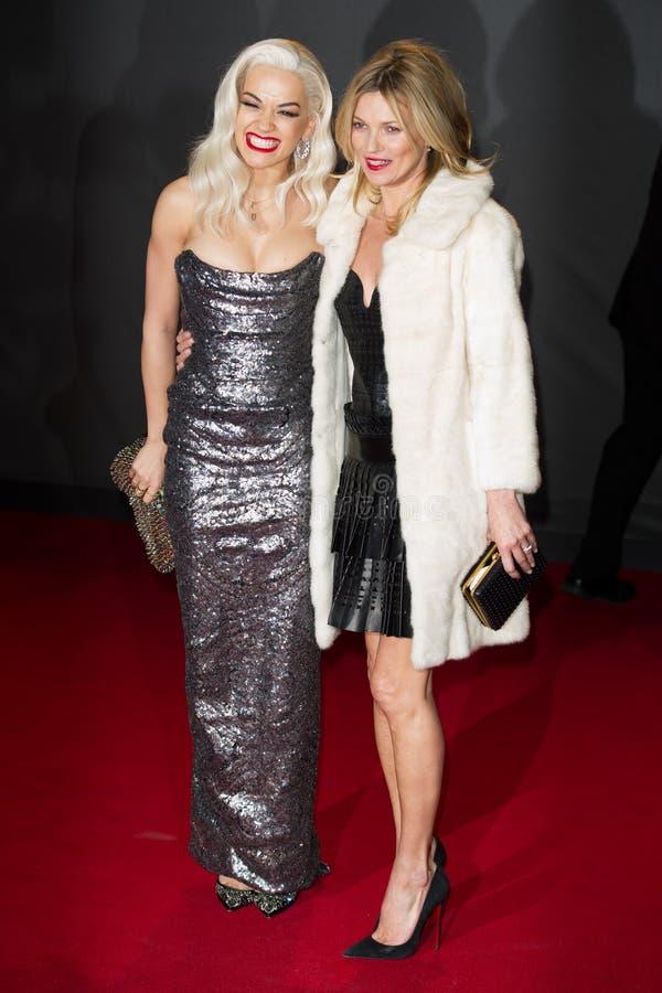 Kate Moss, Rita Ora fotografie stock libere da diritti