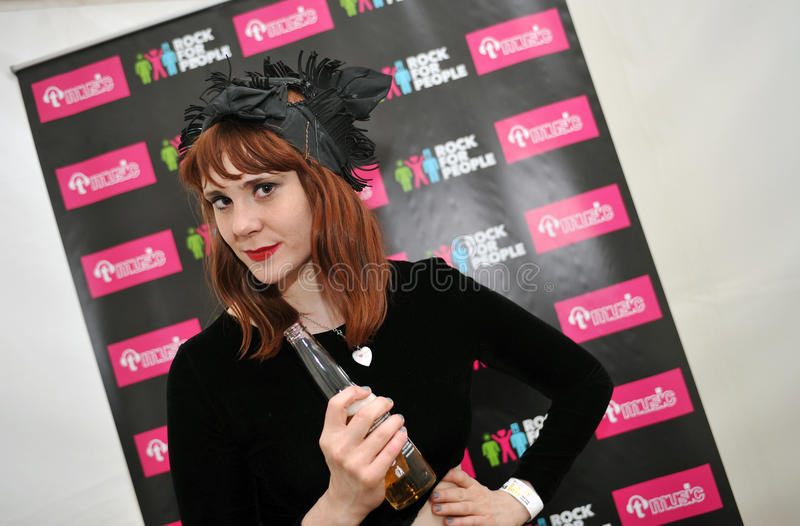 Kate Nash. English singer and songwriter Kate Nash during interview on festival Rock for People, July 3, 2011 royalty free stock photos