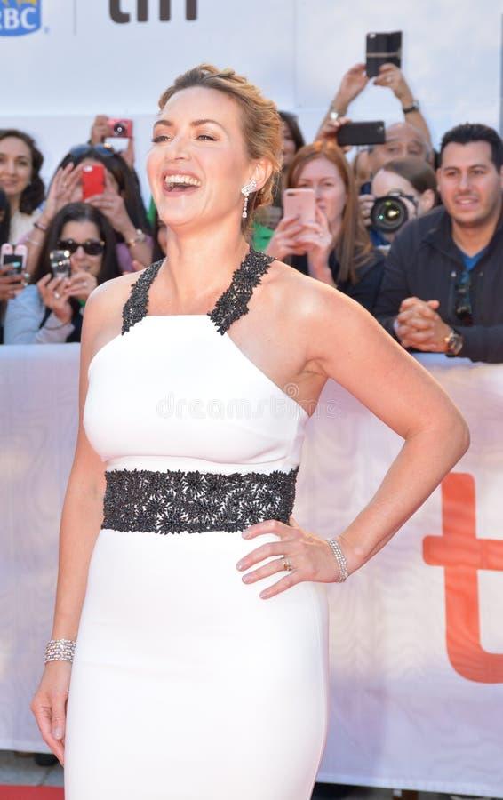 Kate Winslet bij internationaal de filmfestival van Toronto stock afbeeldingen