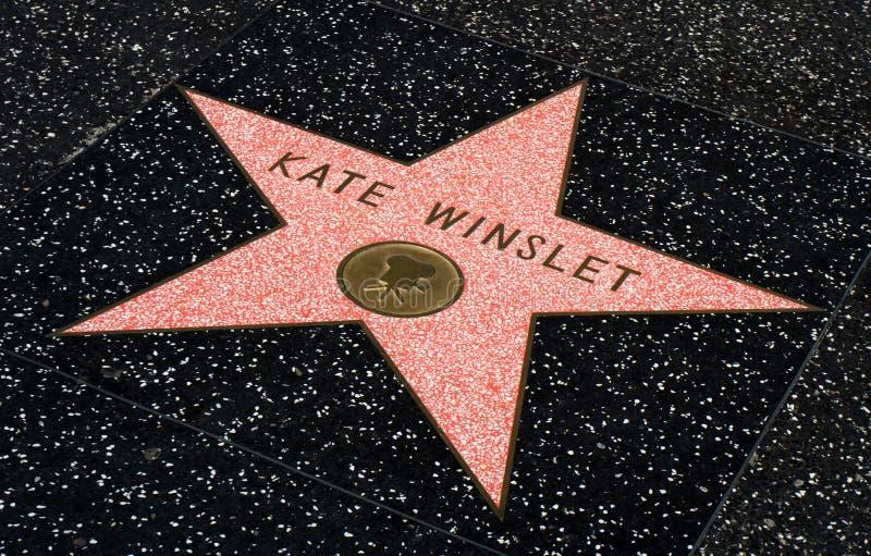 Kate Winslet gwiazda na Hollwyood spacerze sława zdjęcia stock