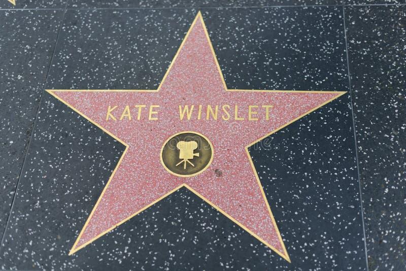 Kate Winslet gwiazda na Hollywood spacerze sława obrazy royalty free