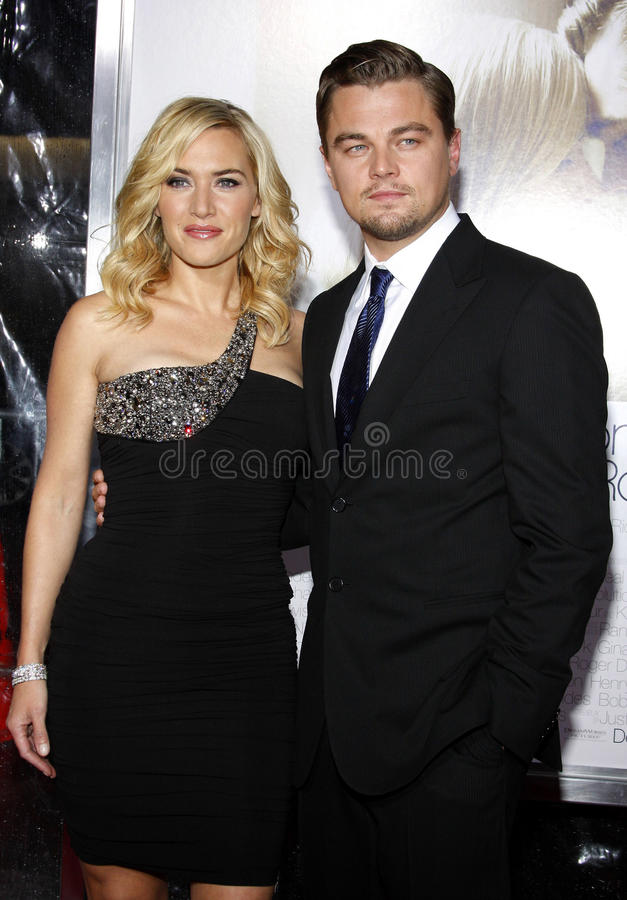 Kate Winslet and Leonardo DiCaprio royalty free stock photography