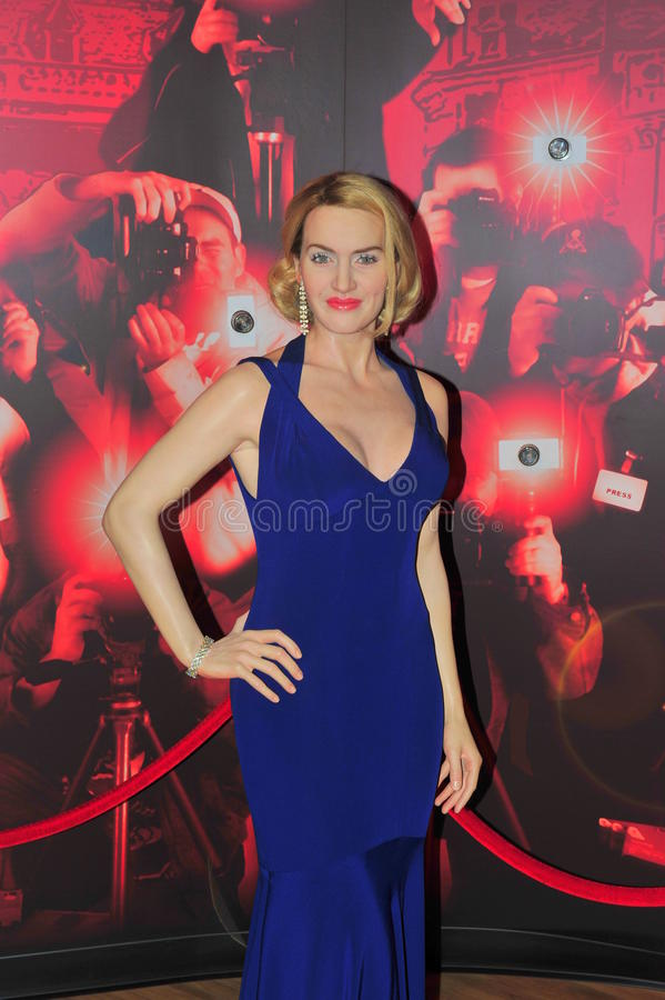 Kate Winslet at Madame Tussaud's in Vienna stock photo