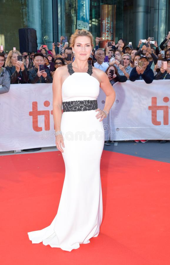 Kate Winslet at toronto international film festival. Kate Winslet at premiere of `The Mountain Between Us` during the 2017 Toronto International Film Festival at royalty free stock image
