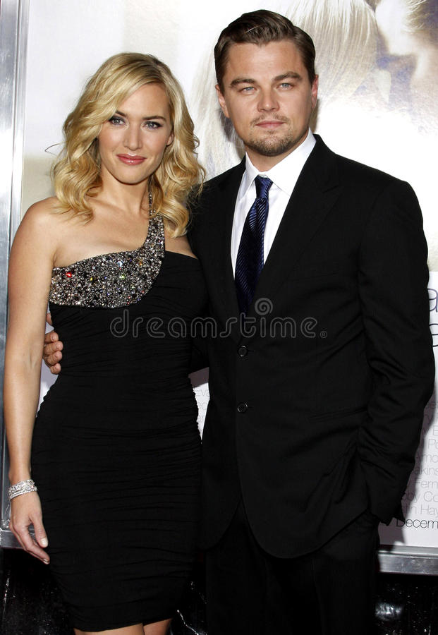 Kate Winslet y Leonardo DiCaprio fotografía de archivo