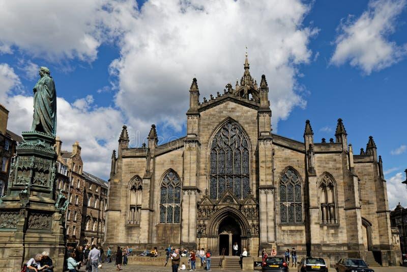 Katedra Å›w. Gilesa w Edynburgu, Szkocja zdjęcia royalty free