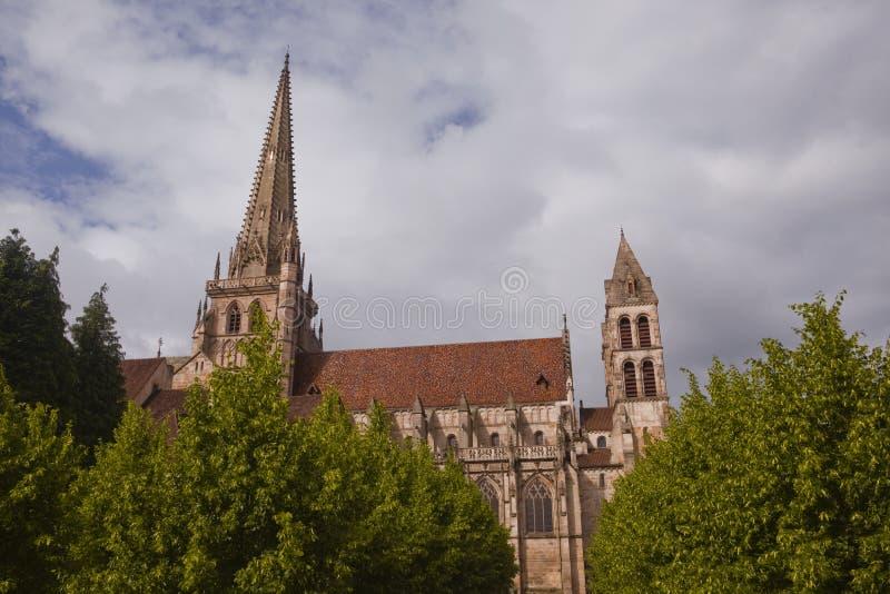 Katedra Świątobliwy Lazare zdjęcia royalty free