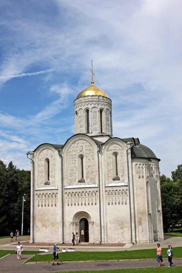 Katedra święty Demetrius w Vladimir, Rosja zdjęcie stock