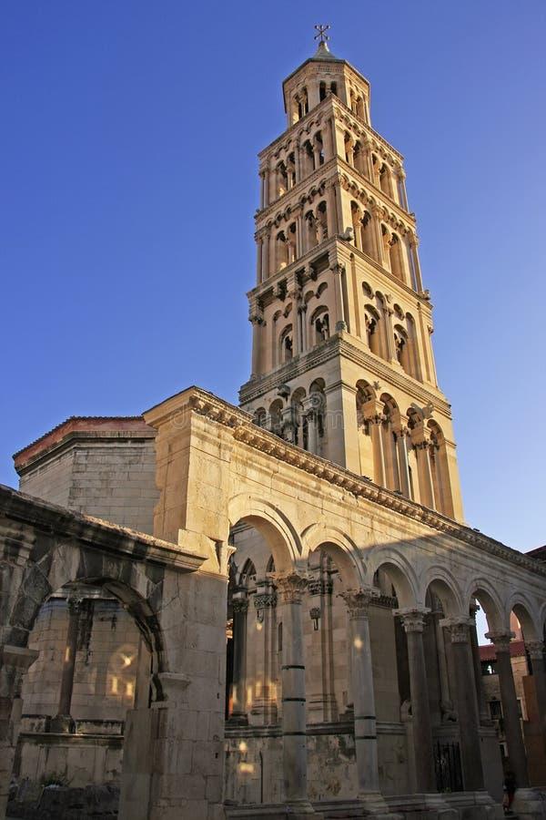 Katedra święty Domnius, rozłam zdjęcia royalty free