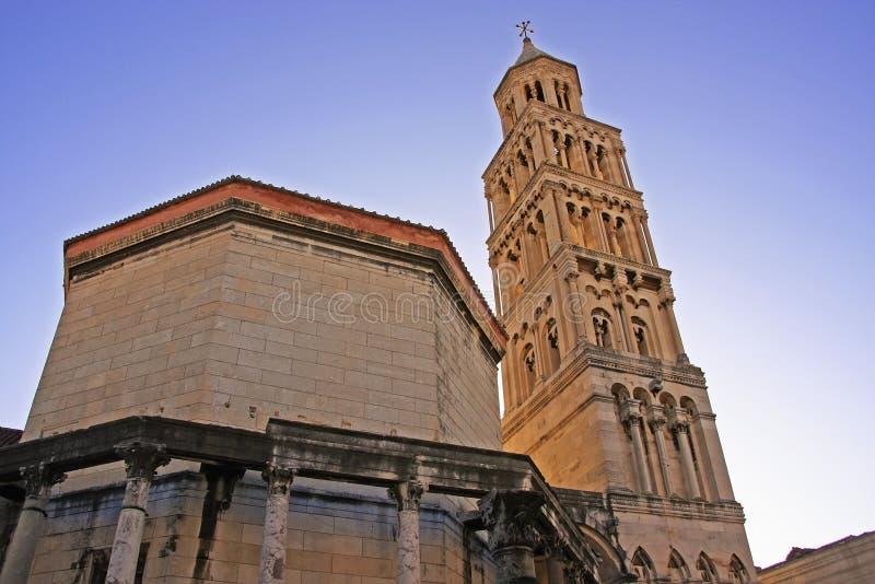 Katedra święty Domnius, rozłam zdjęcie stock