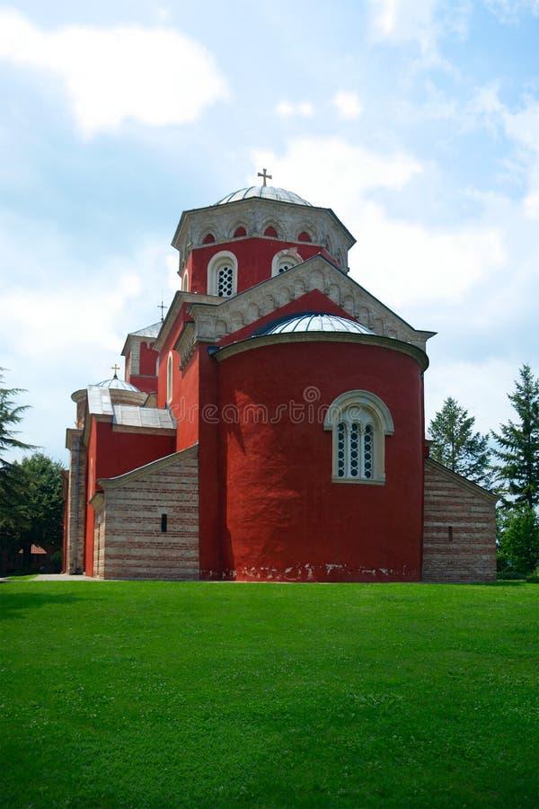 Katedra Święty Dormition w Zhicha monasterze zdjęcia stock
