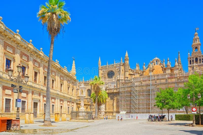 Katedra święty Mary widzieć Catedral De Santa Maria de l zdjęcia royalty free