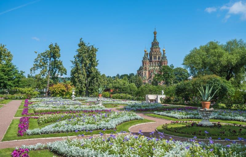 Katedra święty Peter i Paul w Petergof, święty Petersburg zdjęcie royalty free