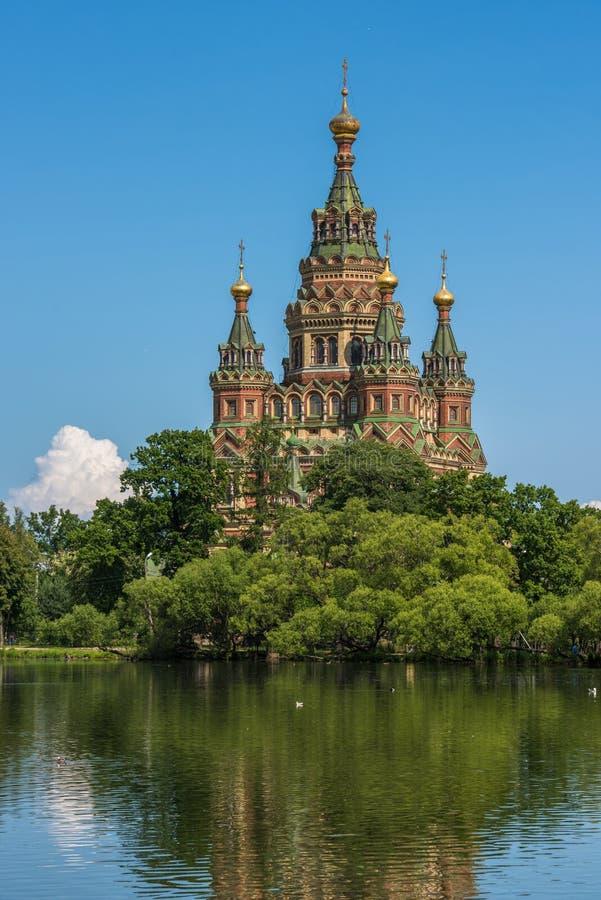 Katedra święty Peter i Paul w Petergof, St Petersburg obrazy stock
