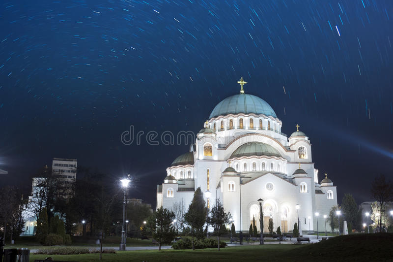 Katedra święty Sava Belgrade Serbia obraz royalty free