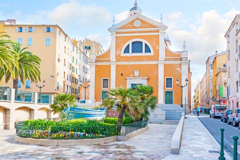 Katedra Ajaccio obrazy royalty free