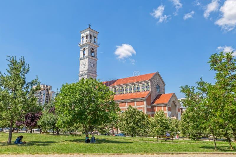 Katedra Błogosławiony Macierzysty Teresa w Pristina obraz royalty free