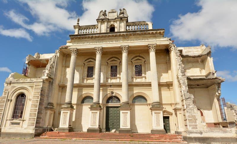 Katedra Błogosławiony sakrament, Christchurch Nowa Zelandia obrazy royalty free