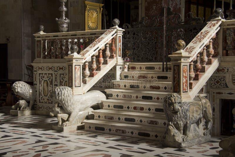 Katedra Cagliari zdjęcia royalty free