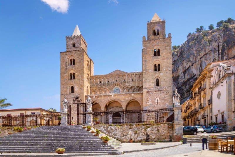 Katedra Cefalu, Sicily, Włochy obraz stock