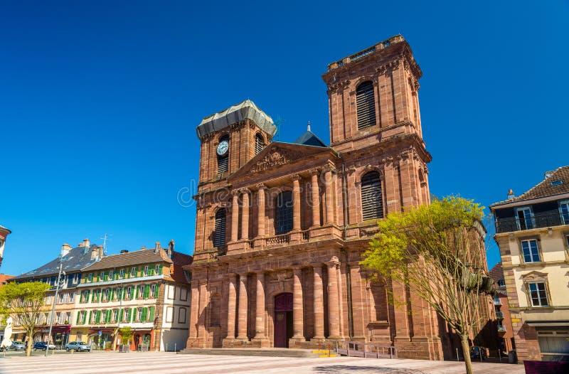 Katedra Christophe w Belfort fotografia stock