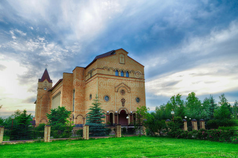Katedra Chrystus, Chrześcijański Ewangelicki kościół w Veliky Novgorod, Rosja fotografia stock