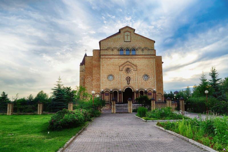 Katedra Chrystus, Chrześcijański Ewangelicki kościół w Veliky Novgorod, Rosja zdjęcie stock