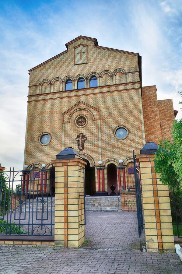 Katedra Chrystus, Chrześcijański Ewangelicki kościół w Veliky Novgorod, Rosja zdjęcie royalty free