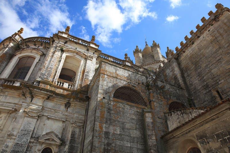 Katedra Evora, nazwany Se Alentejo Portugalia zdjęcia royalty free