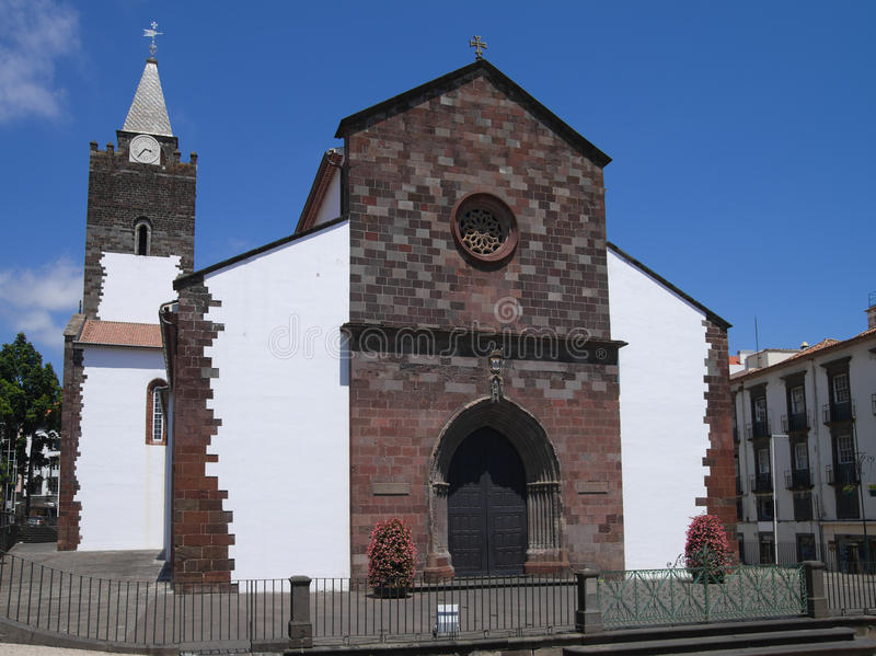 Katedra Funchal, madera obrazy royalty free