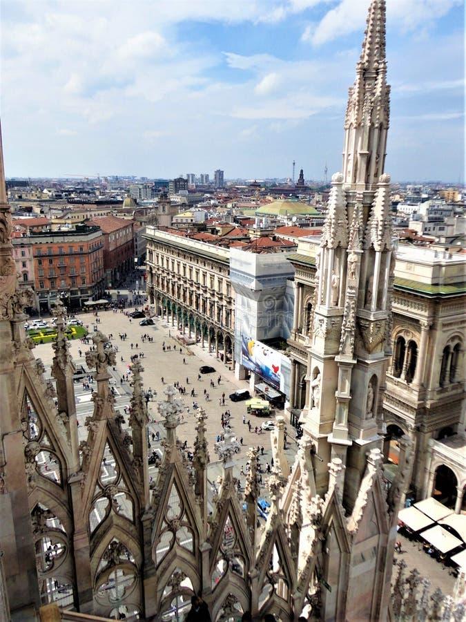 Katedra Galleria Vittorio Emanuele II i Mediolan we Włoszech zdjęcia stock