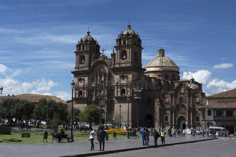 Katedra i kwadrat Cuzco fotografia royalty free