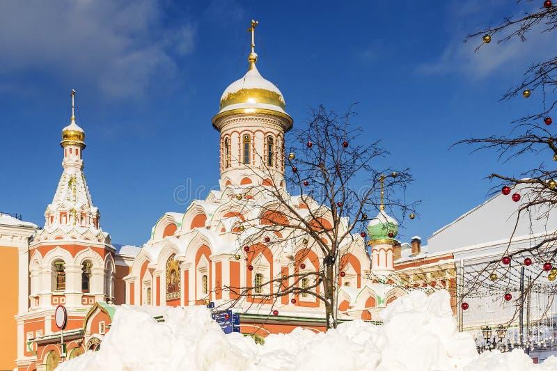 Katedra Kazan ikona matka bóg na placu czerwonym ja obrazy royalty free