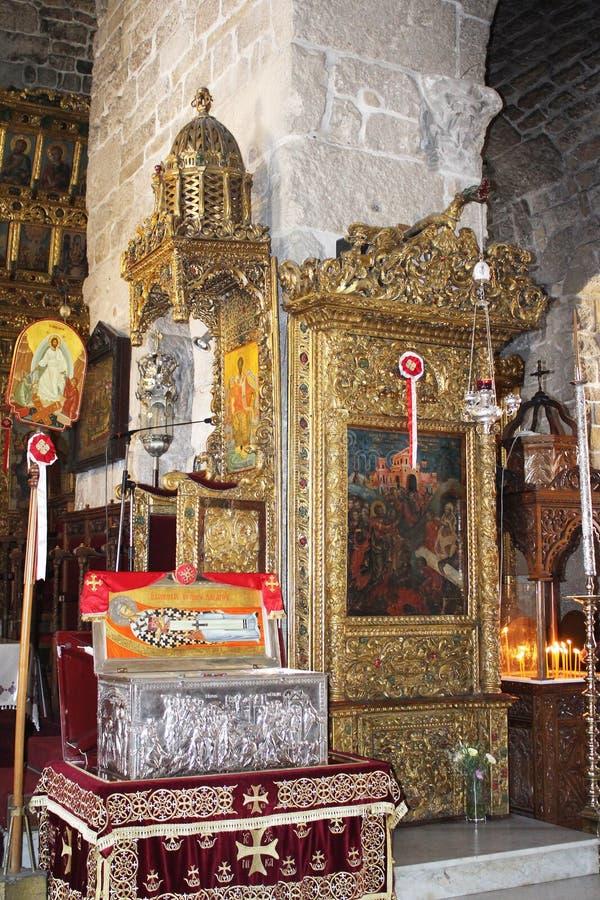 Katedra, ko?ci?? ?wi?tobliwy Lazarus, Larnaka, Cypr obrazy stock