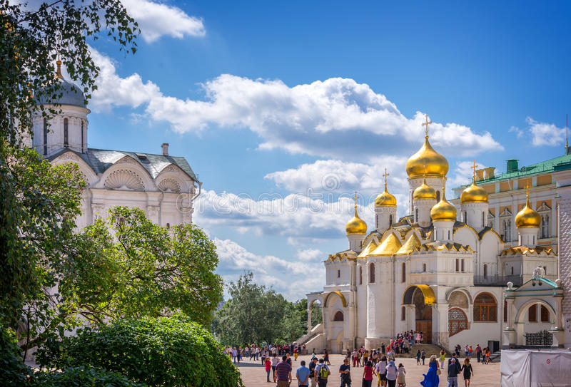 Katedra kwadrat, Moskwa Kremlin, Rosja fotografia royalty free