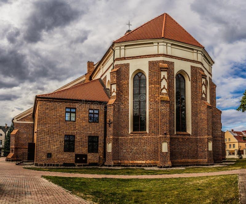 Katedra in Lomza, Polen stockfotografie