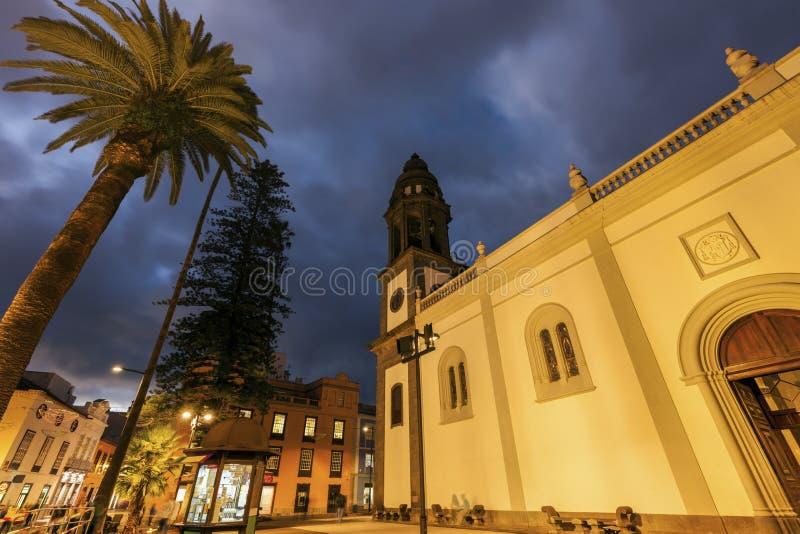 Katedra los angeles Laguna w San Cristobal de losie angeles Laguna fotografia stock