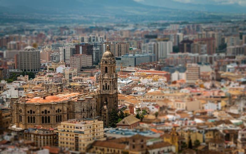 Katedra Malaga widok z lotu ptaka obraz royalty free