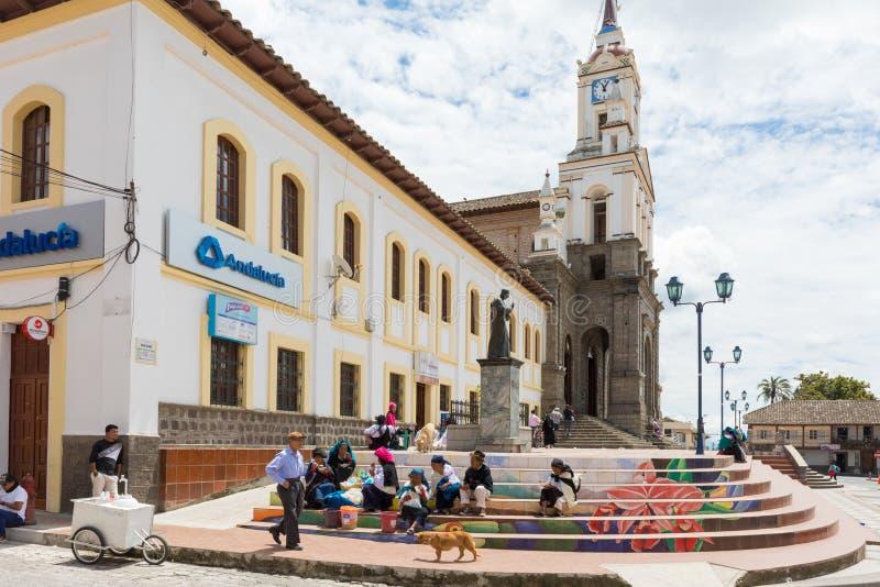 Katedra matryca Cotacachi Otavalo Ekwador zdjęcie stock