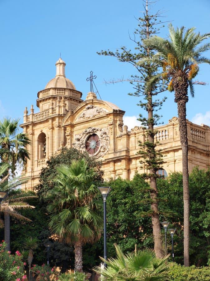Katedra, Mazara Del Vallo, Sicily, Włochy obrazy royalty free