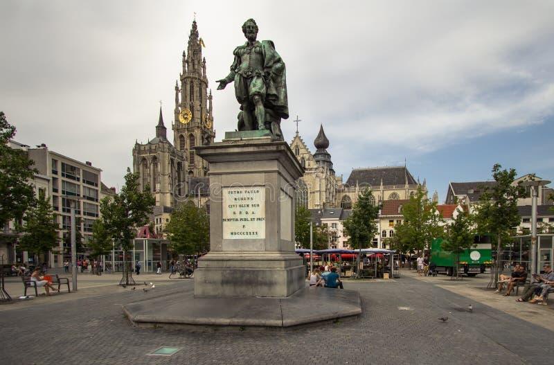 Katedra nasz dama, Antwerpen, Belgia fotografia royalty free