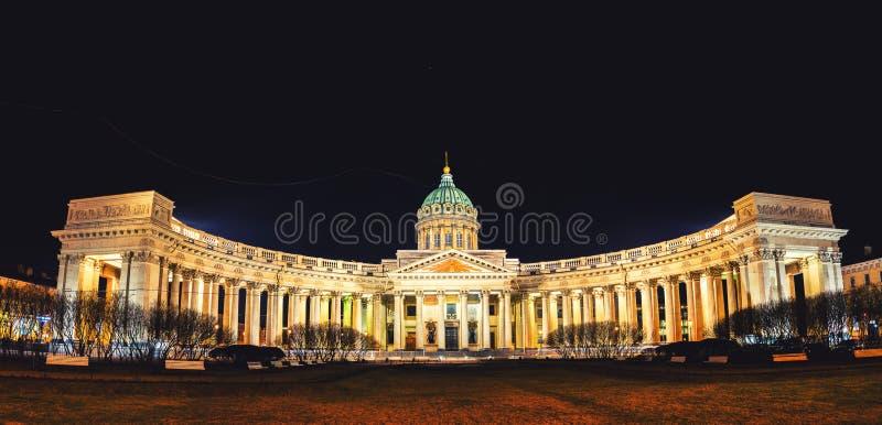 Katedra Nasz dama Kazan w świętym Petersburg obrazy stock