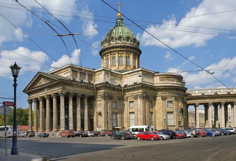 Katedra Nasz dama Kazan w świętym Petersburg, Rosja fotografia stock
