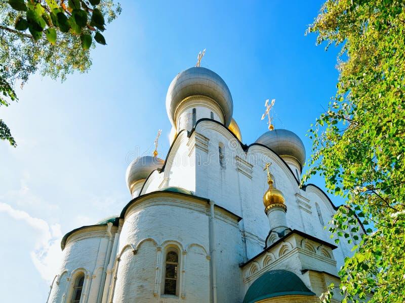 Katedra Nasz dama Smolensk Novodevichy klasztor w Moskwa Rosja obrazy royalty free