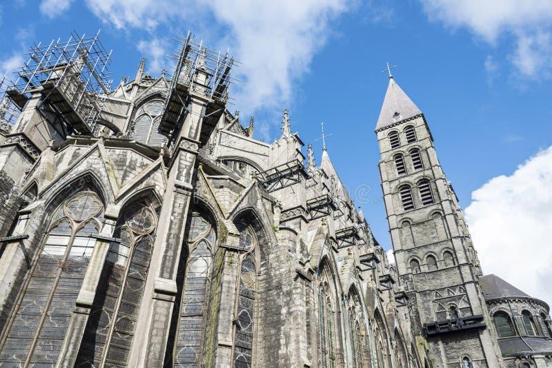 Katedra Nasz dama Tournai w Belgia obrazy royalty free