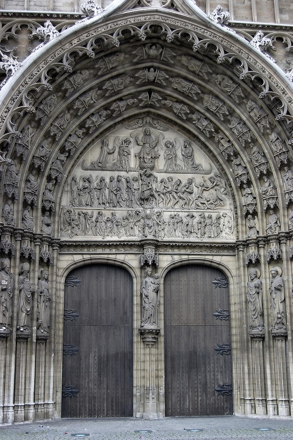 Katedra nasz dama w Antwerp obrazy stock