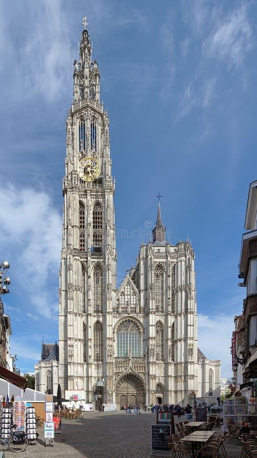 Katedra Nasz dama w Antwerp zdjęcie stock