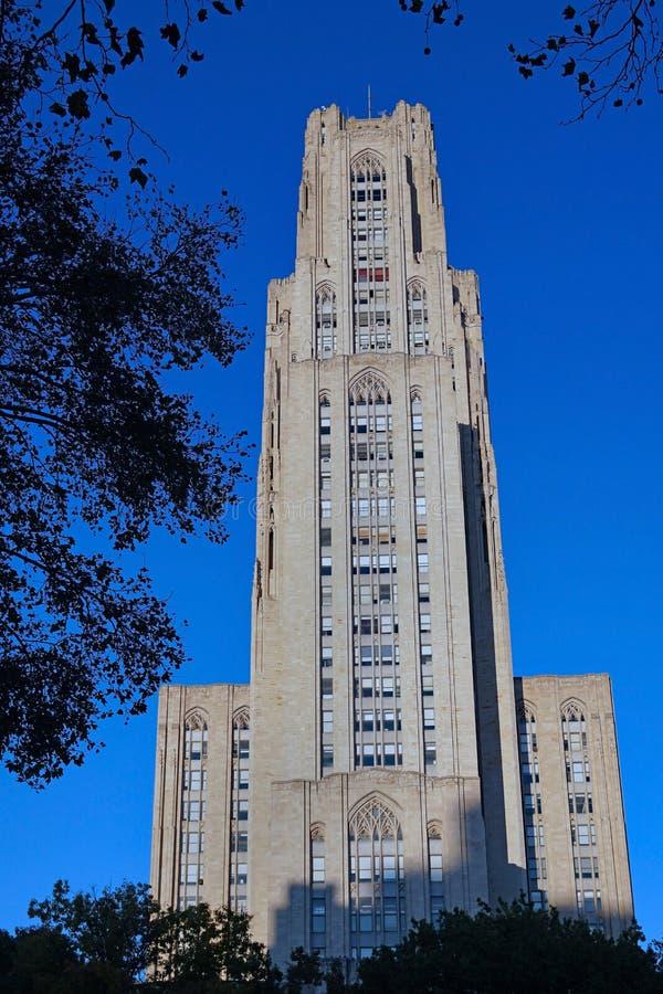 Katedra Nauki na Uniwersytecie w Pittsburghu fotografia royalty free